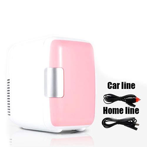 CHUIX Dual-Use-4L Hause Auto Verwenden Kühlschränke Ultra Ruhig Geräuscharm Auto Mini Kühlschränke Gefrierfach Kühlen Heizung Box Kühlschrank,Pink
