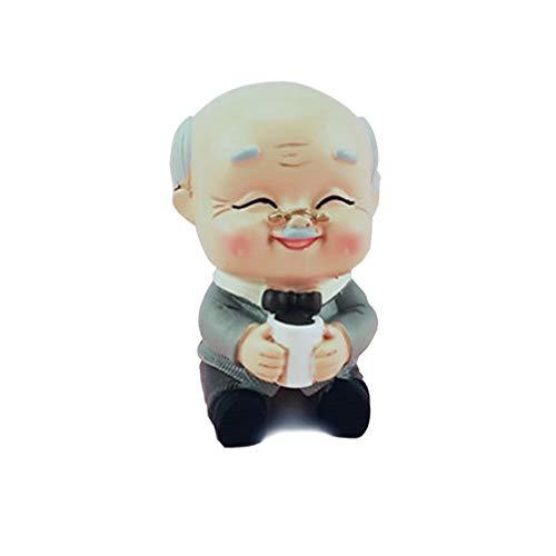 Amosfun Miniatur Opa Figur Kuchen Topper für Opa Geburtstagsgeschenke Partydekorationen
