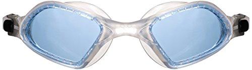 arena Unisex Training Freizeit Schwimmbrille Smartfit (UV-Schutz, Anti-Fog Beschichtung, Weiche Gläser), Blue-Clear (711), One Size