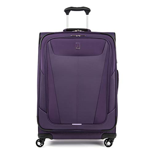 Travelpro Maxlite 5Softside Expandable Spinner Wheel Luggage Imperial Purple CheckedMedium 25Inch