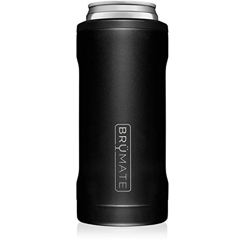 BrüMate Hopsulator Slim Double-walled Stainless Steel Insulated Can Cooler for 12 Oz Slim Cans...