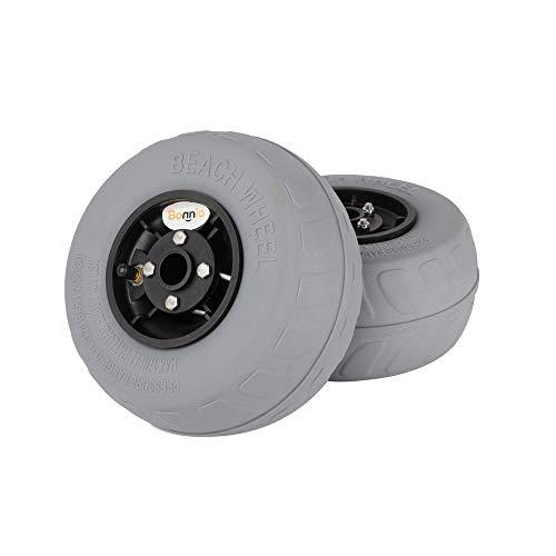 Bonnlo Beach Wheels Upgrade 8.5' Replacement Balloon Sand Tires for Kayak Dolly Canoe Beach Cart...
