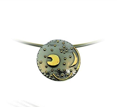 Himmelsscheibe von Nebra, Ø 25mm Anhänger 925/- Silber, Sternenschmuck