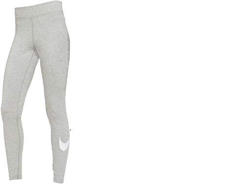 Nike Womens Sportswear Essential Leggings, Dark Grey Heather/White, S