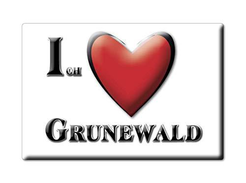 Enjoymagnets GRUNEWALD (BE) Souvenir IMANES DE Nevera Alemania Berlin IMAN Fridge Magnet Corazon I Love