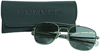 CampCo Humvee Pilot Sunglasses - Grey Polarized Lens, Olive Frame