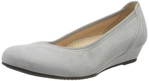 Gabor Shoes Damen Comfort Sport Geschlossene Ballerinas, Grau (Light Grey 40), 42 EU