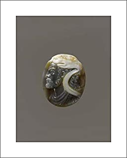 Italian Culture - 16x20 Art Print by Museum Prints - Head of Hercules with The Lion's Skin and Bust of Omphale