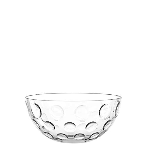 Leonardo Glas-Schale Cucina Optic, runde Schale aus Glas im frischen Design, Deko-Schale mit runden Akzenten, 21,5-cm, 066336