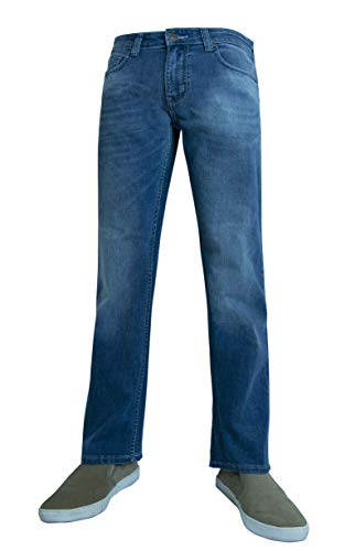 Flypaper Mens Straight Stretch Jeans Med Wash Size 29X30