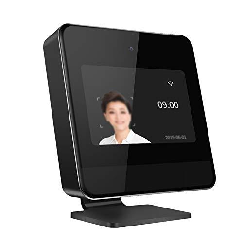 Feixunfan Zeiterfassung Smaschine Face Smart Cloud Anwesenheitsmaschine Eincheck-in-Maschine WiFi Vernetzte Check-in-Maschine für Mitarbeiter Business (Farbe : Black, Size : 11.5x2.4x11.5cm)
