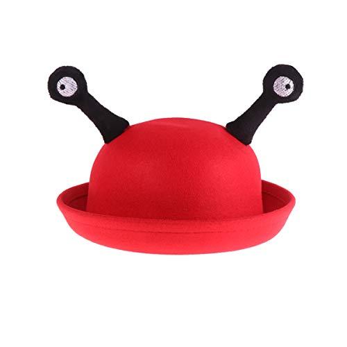 NUOBESTY Kleine Runde Schnecke Auge Kappe Neuheit Lustige Hut Kinder Party Hut Kostüm Verkleiden Sich Hut (Rot)