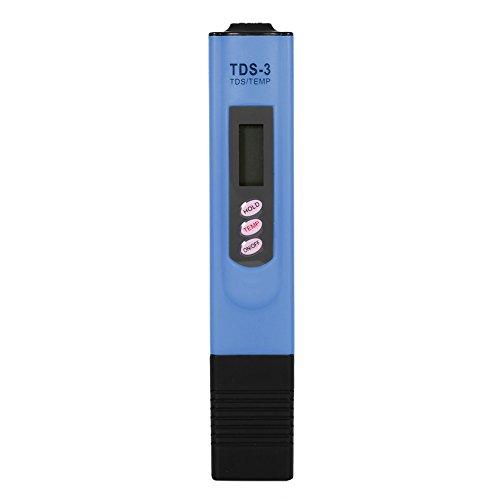 Calidad del Agua Medidor de Prueba TDS Probador del metro de la pureza del probador de la calidad del agua para potable hidroponía piscinas acuarios(Azul)