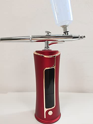 Fascinated エアブラシ エアーブラシ 充電式 ガンプラ ガンダムマーカー 口径0.3�o プラモデル 模型 塗装 軽量 小型 (赤)