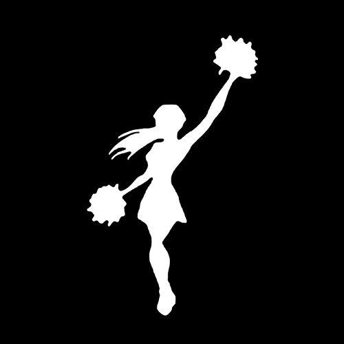estéticas 9.6 * 15.7cm Baile Cheerleader Decoración Deportiva Pegatina de automóvil Accesorios Accesorios de Vinilo Extreme Movimiento C12-1518 (Color Name : Silver)