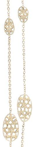 Hobra-Gold 60 cm lange gouden ketting 750/18 karaat ovaal glimlach halsketting geelgoud collier