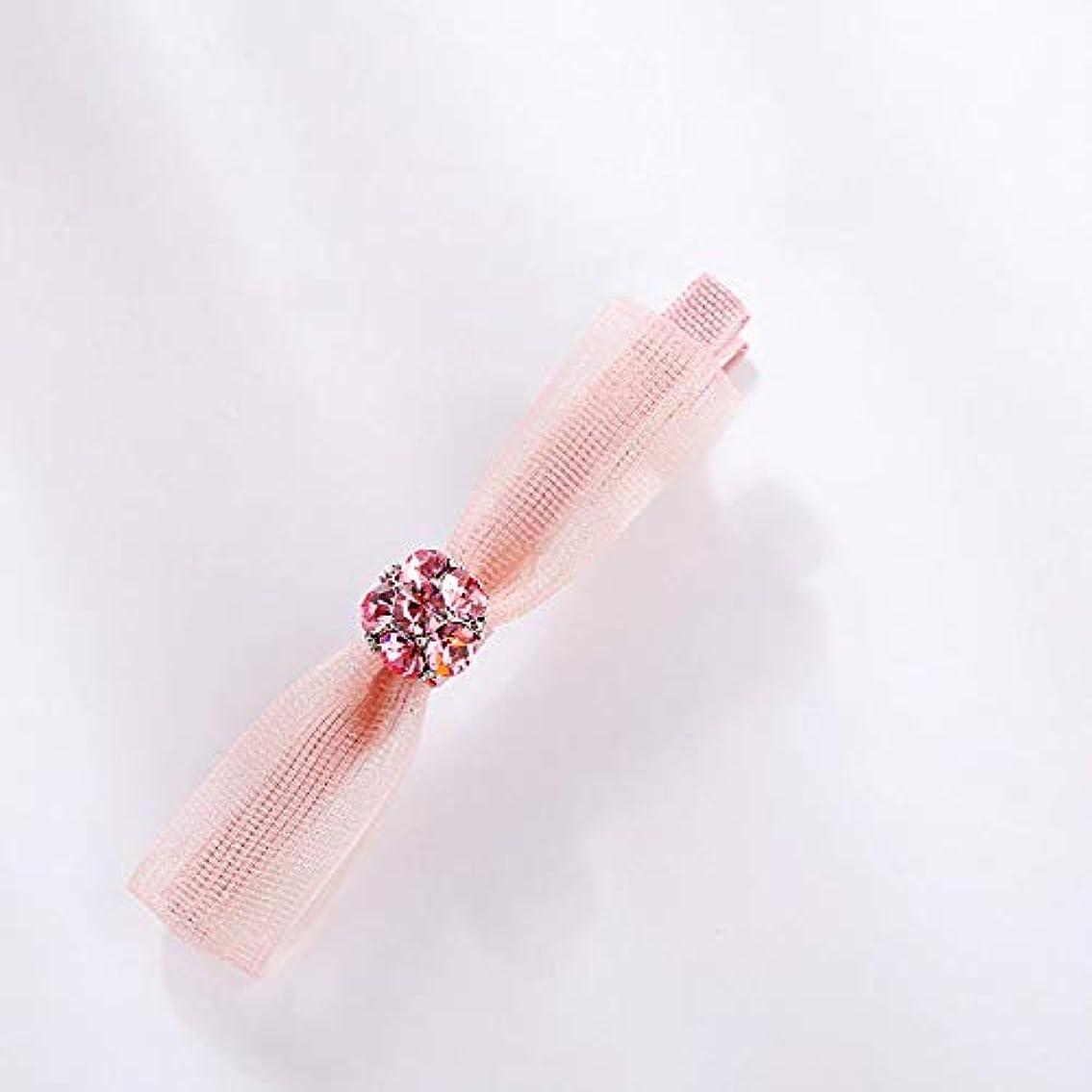 コマースオートマトン誤解を招くHuaQingPiJu-JP ファッションロゼットヘアピン便利なヘアクリップ女性の結婚式のアクセサリー(ピンク)