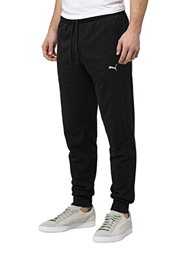 PUMA Men's French Terry Pant (Black, Large)