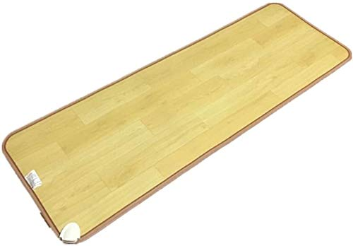 XRYM Tragbare Fußbodenheizung Holz Streifen Kohlenstoff-Kristall-Heizkissen, Fußbodenheizung Pad mit regelbarer...