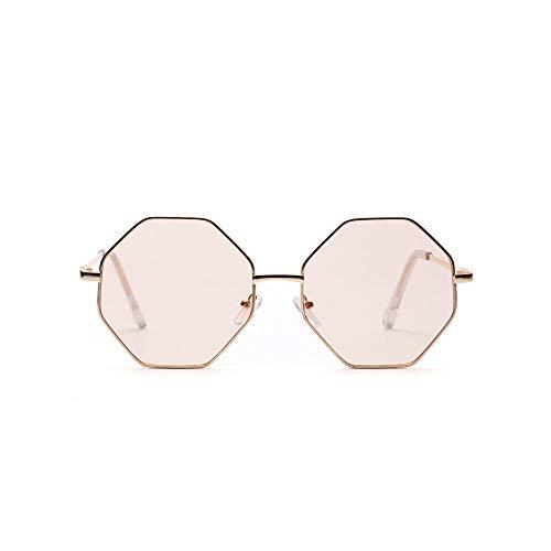 N-A Metallrahmen Sonnenbrille Polygon Gleitsichtgläser TrendMänner und Frauen mit der gleichen Sonnenbrille-C001