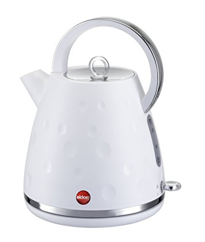 Elektrische Wasserkocher mit Drehsockel ELDOM C245, Weiß, 2000W, 1,7 l (hochwertige Komponenten STRIX)