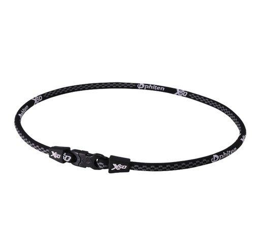 Phiten AquaTitanium-Halskette X50, 45,7cm, Schwarz