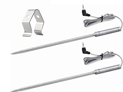 Upgraded 8 Zoll Braten Grill-Thermometer Ersatzsonde für ThermoPro TP17 TP16 TP16S TP20 TP20S TP25 TP08 TP-08S TP-07 TP04 Umi04 Umi08, Nur für gelistete Modelle geeignet, 2 Stück