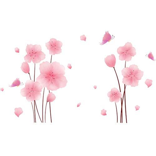 YUTRD Flores Plantas Pegatinas de Pared DIY Chica Vinilas de Pared para Sala de Estar Dormitorio Cocina Casa Decoración (Color : B)