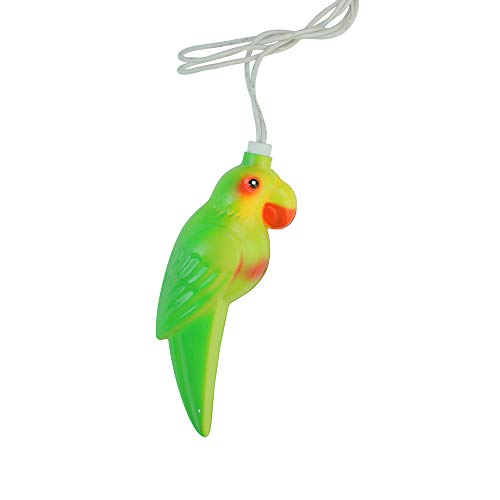 Sienna 10 Multicolor Tropical Parrot Bird Christmas Lights - 7.5 ft White Wire