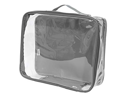 Clear Stadium Approved Tote Bag/Perfect for Concerts, Game Day, and Storage Cube (Gray)