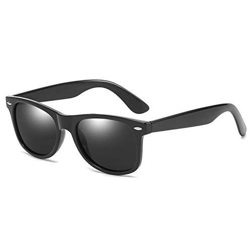 COCKE Gafas De Sol Polarizadas UV400 Gafas De Sol Hombre Polarizadas Conducción Gafas Gafas De Sol Unisex para Viajes Conducir,Negro