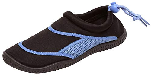 Zapato Damen Aquaschuhe Badeschuhe Schwimmschuhe Strand Pool Beach Slipper Neopren Gr. 36-41 schwarz blau (36/37 EU)