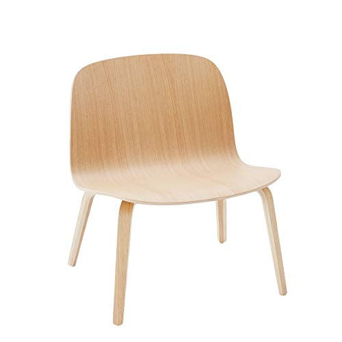Muuto visu Lounge Chair con telaio in legno, rovere, Standard
