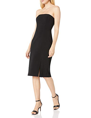 Eliza J Women's Strapless Bodycon with Slit Casual Night Out Dress, Black, 18