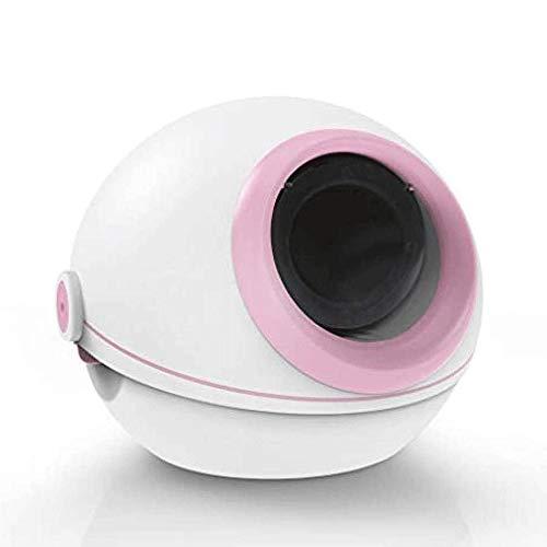 Sdesign Inteligente automático de arena for gatos caja completamente cerrado WC gato inteligente bandeja de la caja de la litera del gato caja de arena for gatos filtro Roll-Top Tapa Prevención de der