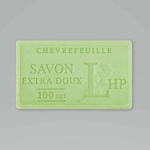 PRODUIT DE PROVENCE - CHEVREFEUILLE - SAVON DE MARSEILLE EXTRA DOUX 100 G - DÉLICAT PARFUM NATUREL DE CHEVREFEUILLE - GARANTI SANS PARABEN