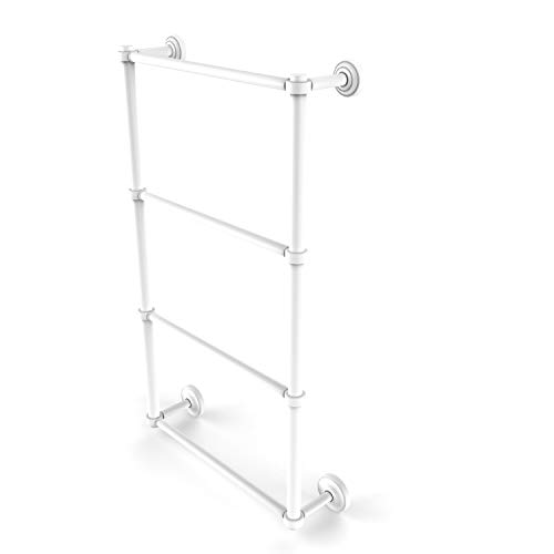 Allied Brass DT-28-24 Dottingham Collection 4 Tier 24 Inch Ladder Towel Bar, Matte White