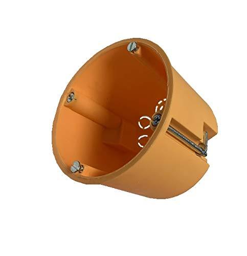 25 Stück Hohlwanddosen Hohlraumdosen orange tief Höhe 61mm