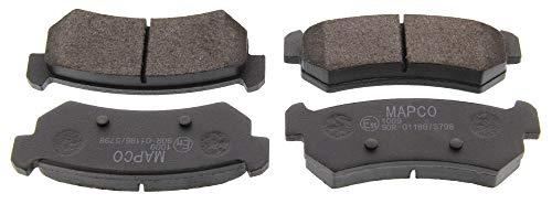 Preisvergleich Produktbild Mapco 6812 Bremsbelagsatz,  Scheibenbremse - (4-teilig)