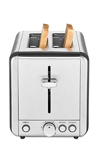 Solis Edelstahl-Toaster mit 2 extra großen Schlitzen, Krümelschublade, 925 Watt, Toaster Steel (Typ 8002), Silber