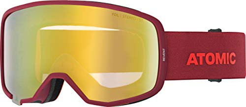 ATOMIC Unisex – Erwachsene REVENT Goggles, Rot/Pink-Gelb Stereo, One Size