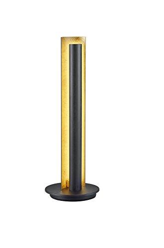 TRIO, Lampe de table, Texel incl. 1 x LED,SMD,6,5 Watt,3000K,660 Lm. Corps: metal, Noir Ø:16,0cm, H:47,5cm IP20,Interrupteur de cordon