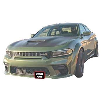 STO N SHO Front License Plate Bracket for 2015-2018 Dodge Charger SRT8 Scat Pack /& 2017-2018 Daytona Alternate No Drill Option Hellcat