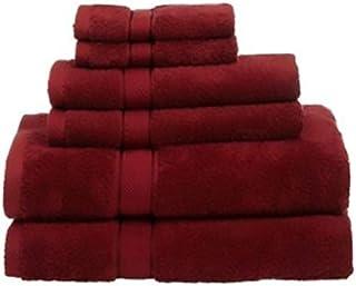 Indigo Soft Towel 6 Piece Gift Set, Cotton, Red, H32.6 x W33.8 x D5.8 cm