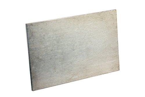 Zink-Anode/Elektrode/Blech (8 x 5 cm) für Zinkelektrolyt/Galvanik
