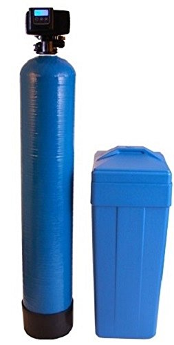 Metered water softener with 3/4' Fleck 5600SXT control, 32,000 grain capacity with by-pass valve