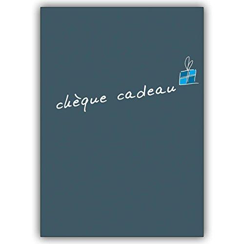 Wenskaarten met korting voor hoeveelheid: geef een Franse cadeaubon cadeaubon (blanco): chèque cadeau • Leuke wenskaart met envelop in premium kwaliteit 16 Grußkarten