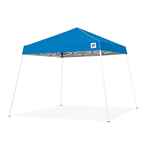 E-Z UP Swift Instant Shelter Canopy, 12' x 12', Angled Leg, Cathedral Ceiling and Powder-Coated Steel Frame, Royal Blue