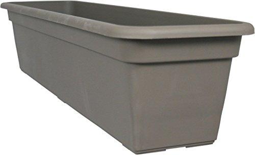 MePla Fioriera Balcony standard, 100 cm, colore: tortora