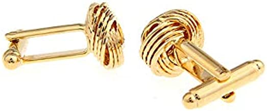 Pictographic Series Gold Spiral French Cufflinks Extreme Classic Mens Shirt Cufflinks